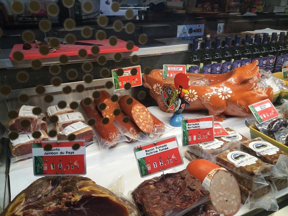 negozio portoghese al mercato dei capucins