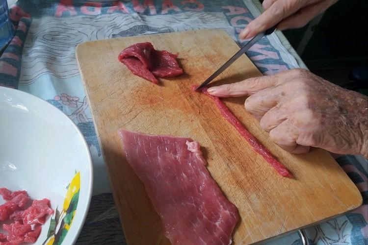 taglio della carne - ammacucenà