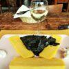 polenta con nero e pezzi di seppia