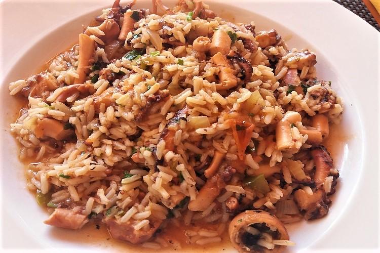 arroz de polvo capo verde riso al polipo - amma cucenà