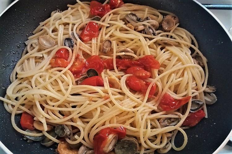 spaghetti con le patelle - amma cucenà ammacucena