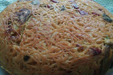 pizza di spaghetti pizza di maccheroni ammacucena