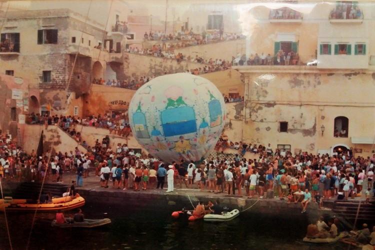 o pallon mongolfiera di ventotene - foto amma cucenà