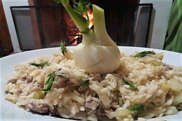 amma cucena risotto finocchi e salsicchia